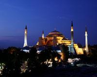 Santa sophia museum blue mosque hippodrome and turkish islamic