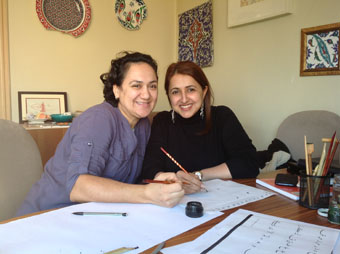 Urkish and ottoman style calligraphy hat lessons in istanbul